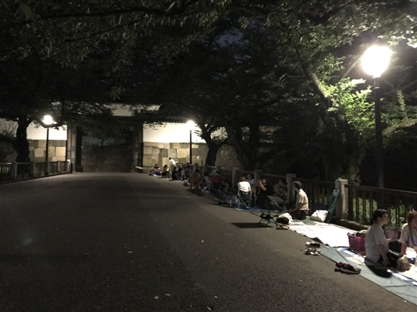 日本武道館にて剣道錬成大会の場所取り代行